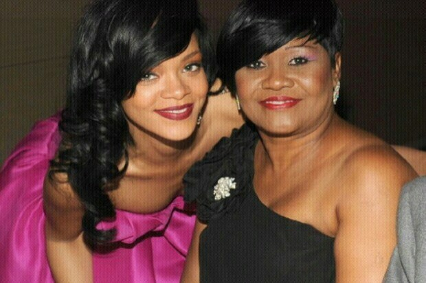 Rihanna with Guyanese Mom, Monica Braithwaite