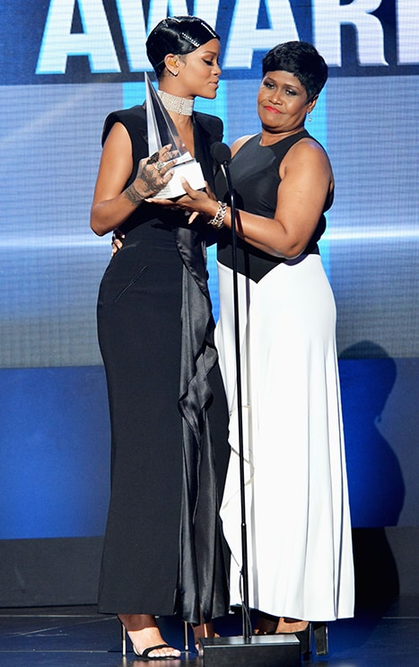 Rihanna present with Icon Award by Mom Monica Braithwaite-Fenty