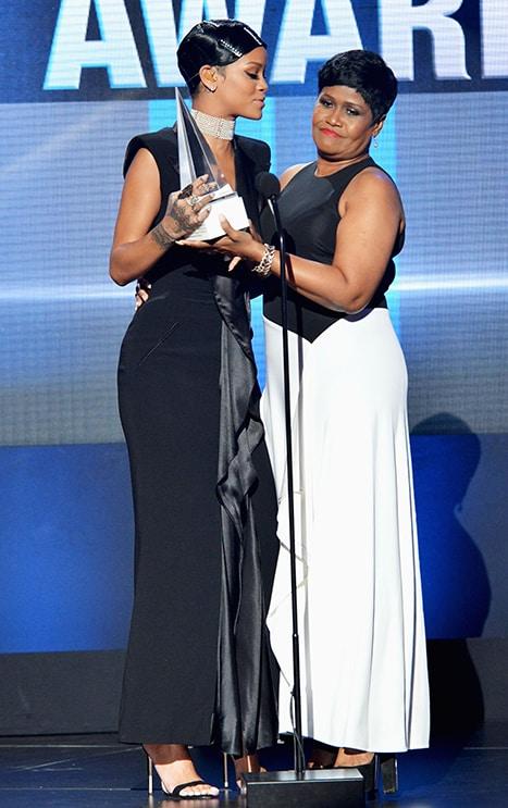 Rihanna present with Icon Award by Mom Monica Braithwaite-Fenty