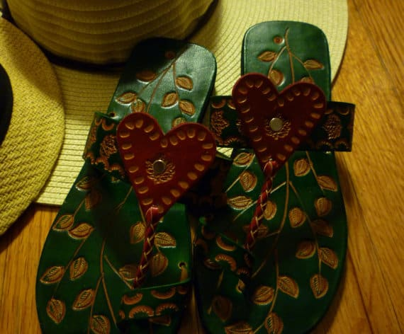 Leather Slippers - Made in Guyana
