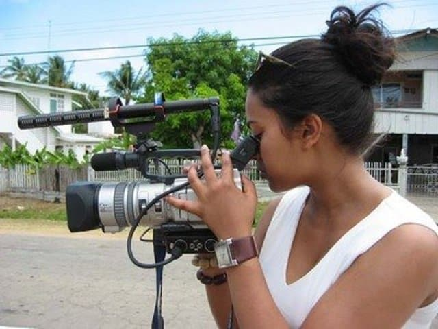 Shundell hard at work in Guyana.