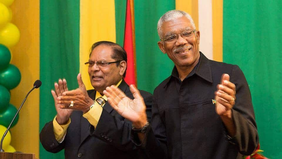 David Granger and Moses Nakgamootoo