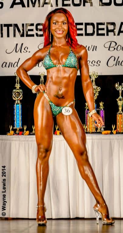 Domini Alleyne, winner of Miss Senior Fitness 2014