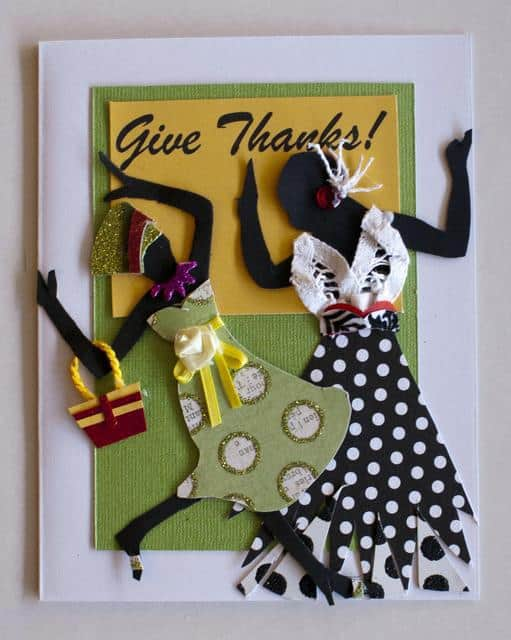 Give Thanks card designed by Claire