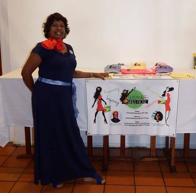 DV Advocate Sukree Boodram supporting the GGR at the Let the Women Speak Luncheon in Guyana