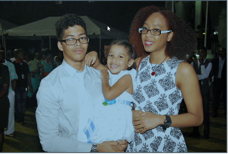 President Granger's Daugthter Afuwa and his grandchildren
