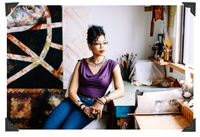 Artist, Afuwa Granger - First Daugher of Guyana.