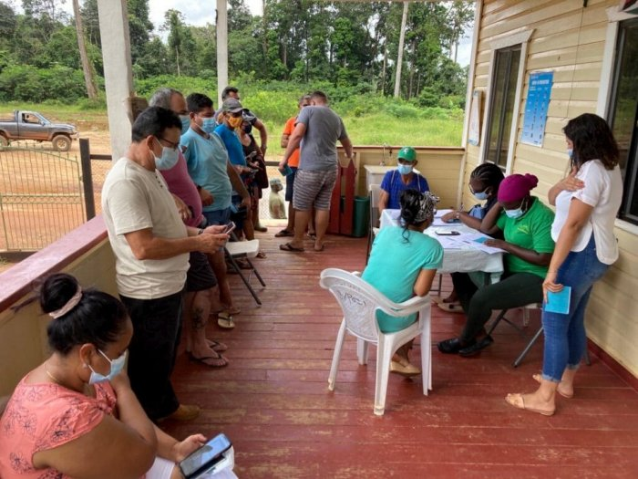 Across Latin America, displaced people receive the COVID-19 jab